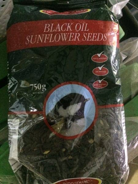Black Oil Sunflower Seeds available at Bumbles Plant Centre