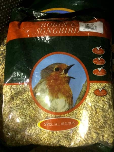 Robin & Songbird feed available at Bumbles Plant Centre