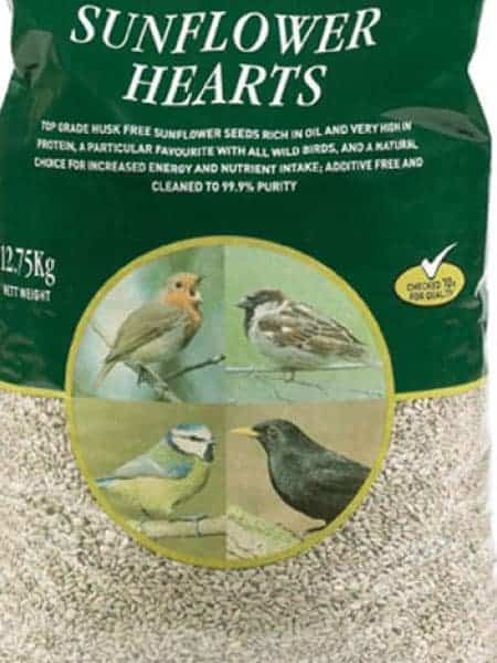 Sunflower Hearts - bird food available at Bumbles Plant Centre