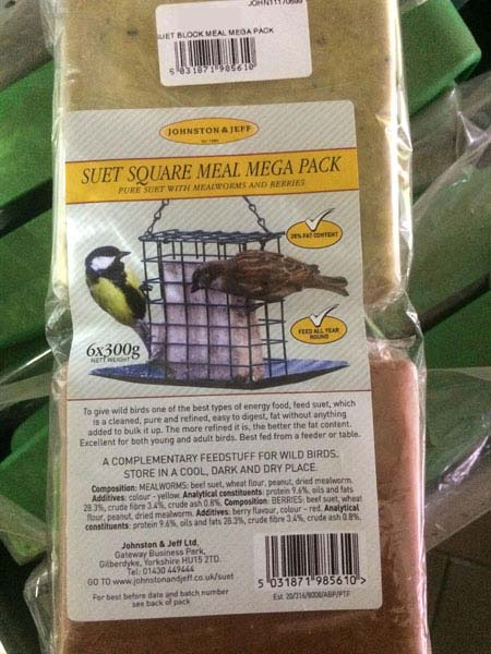 Suet Square Blocks - bird food available at Bumbles Plant Centre
