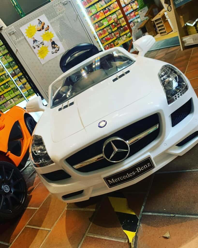 Christmas gift ideas, Mercedes electric car at Bumbles 2020