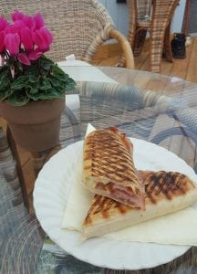 Bacon Panini available at Bumbles Coffee Shop