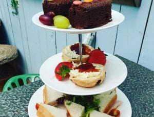Enjoy afternoon tea at Bumbles Coffee Shop