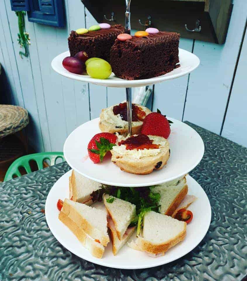 Enjoy afternoon tea at Bumbles Coffee Shop