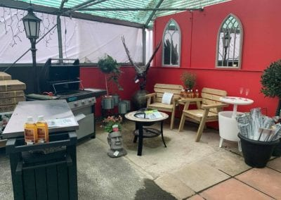 Barbecues and garden furniture at Bumbles Plant Centre
