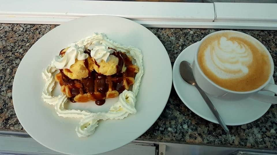 Belgian Waffle Breakfast at Bumbles!