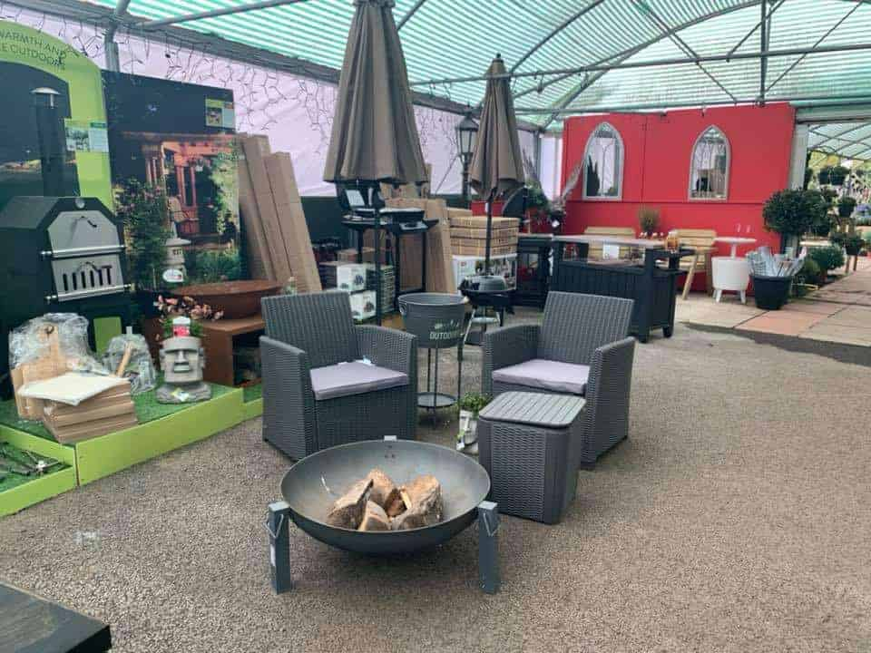 Furniture for outdoor spaces at Bumbles Plant Centre