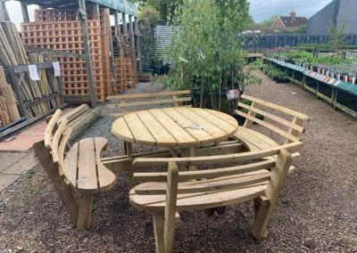 Quality garden furniture at Bumbles Plant Centre