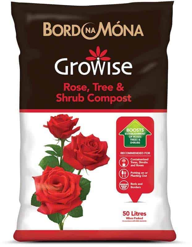Rose, Tree & Shrub compost available at Bumbles Plant Centre