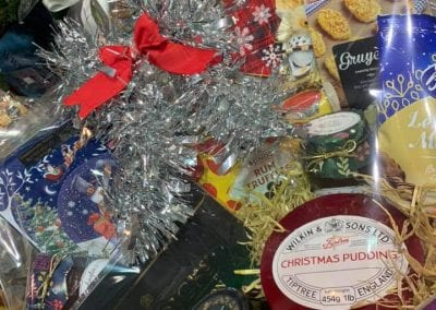 Christmas hampers available at Bumbles Plant Centre