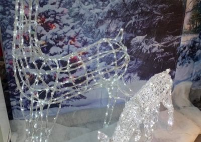 Beautiful lighted reindeer at Bumbles Plant Centre